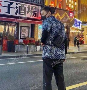 21SS Hommes imprimés T-shirts Designer Paris Tricot de camouflage Vêtements de camouflage à manches courtes Mens Hommes Tag Noir Blanc