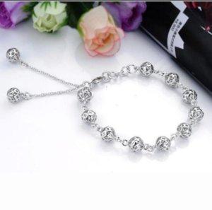 Sterling silver bracelet, 925 sterling silver fashion jewelry Ball Bracelet  antajfaa ezdanqka best gfit ps0661