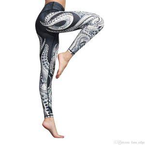 Yoga Pants Print Mid Thigh Stretch Cotton Span High Waist Pants Active Workout Gym Leggings Sport Women Fitness Sports Pants#40soccer jersey