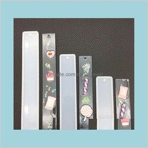 Rettangolo Silicone Bookmark Stampo FAI DA TE fai da te segnalibri fatti a mano Stampo per la produzione di epossidiche resin monili stampo strumenti artigianali forniture per artigianato 3 dimensioni SWRFG MNMBW