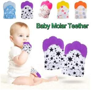 Baby Teether Gloves Squeaky Grind Teeth Chew Sound Toys Lovely Teethers infant Toy Newborn Teething Pain Relief Practice supplies wmq920