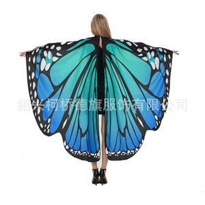 Shawls Borboleta Cabo Gradiente Shawl Adulto Wings Decoração para Halloween
