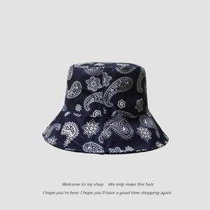 New cashew double face fisherman's hat for autumn and winter accessories Black Friday
