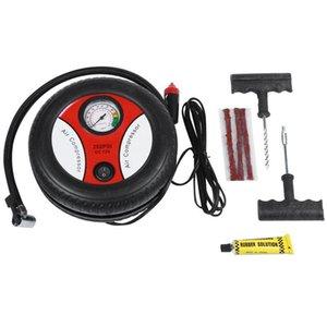 Pompe gonflable 12V Portable Compresseur de compresseur de pneu 260Psi Pneu Gonfleur Aux outils auxiliaires Inflation de pneu avec outil de réparation