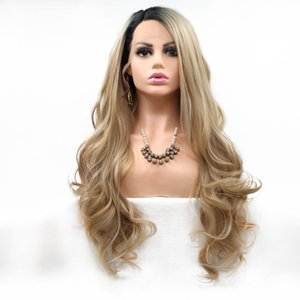 18-24 inch long hair Front lace wigs chemical fiber wig high temperature silk factory direct sales stock