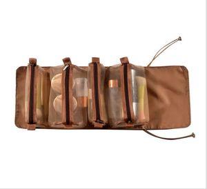 Bolsas de maquillaje portátiles Cuatro en una bolsa de pliegue de viaje Bolsas de lavado Bolsa de almacenamiento Grenadine desmontable Cosmético Almacenamiento de alta capacidad HHC6139