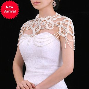 TOPQUEEN G09 Elegant Royal Pearl Beaded Wraps Handmade Beading Shawl Jacket Bolero Bridal Wedding Wrap