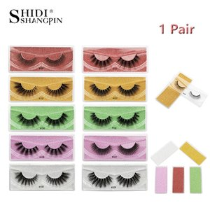 False Eyelashes SHIDISHANGPIN 1 Pair Lashes 10 Models Natural Long Thick Winged Feather Mink Clusters With Multicolor Packaging
