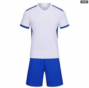 2021 Custom White Branco equipe em branco Jerseys de futebol definir atacado personalizado tops com shorts treinamento jersey curta moda corrida