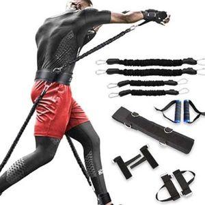 Widerstandsbänder Fitnessband Set zum Boxen auf Beinen und Armen Muay Thai Home Fitnessstudio Hühnende Kraft-Trainingsgeräte