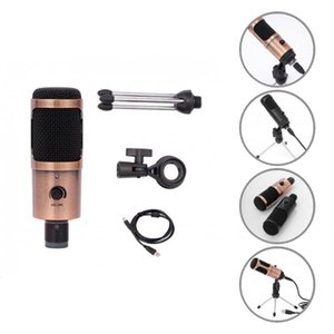 Microphones Compact Convenient Volume Adjustment USB Wired Microphone Practical Condenser Professional For Recording