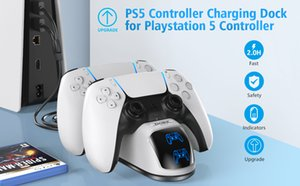 PS5 Controller Charging Station Compatible with PS5 Controller,DOBE Controller Charger Dock Station with Fast Charging,PS5 Remote Charger Station with 2 in 1 Cable