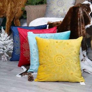 Velvet 21 Dutch Hot Drill Pillow Sunflower Bedside Cushion Sofa Cover