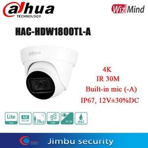 Dahua 4K 8MP 실시간 HDCVI IR Eyeball Camera HAC-HDW1800TL - 내장 MIC (-a) Max. 길이 30m, 스마트 IP67, 12V ± 30 % DC IP 카메라