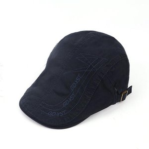 Visors XEONGKVI Fashion Embroidery Pure Color Berets Caps Spring Autumn Brand Snapback Cotton Hats For Men Peaked Cap Casquette