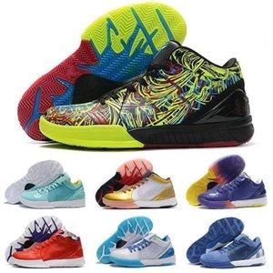 Zoom Spurs IV 4 Protro BLACK MAMBA Basketball Shoes WIZENARD Hornets Carpe Diem Del Sol ZK4 4s Sports Trainers Mens Sneakers Size 40-46