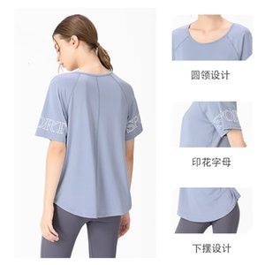 Luxury Party Dresses Large Loose Short Sleeve T-shirt Female Alphabet Printed Running Top Sports Breathable Fitns Yoga Suit