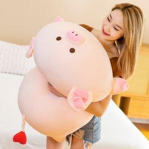 Super Soft Piggy Plush Toy Giant Stuffed Pig Doll Sleeping Pillow Festival Birthday Gift 31inch 80cm DY10006
