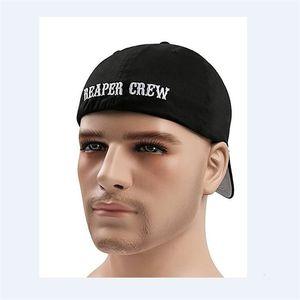 1 stücke SOA Söhne der Anarchie montierte Baseballmütze Bestickte Hut Schwarz