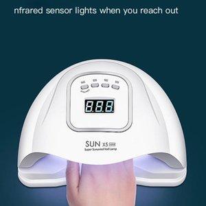 Nail Dryers 120W Smart UV LED Lamp Gel Polish Dryer Timed Manicure Potherapy Machine