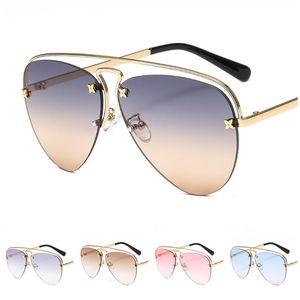 Fashion Women Spectacles Rimless Eyeglasses GLASSES Double Mirror Goggles Anti-UV SUN Ornamental Beam Sunglasses Men & Frog A++ Qtdgs
