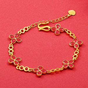 Placer Gold Bracelet Ancient Burnt Blue Carved Bracelet Enamel Cloisonne Accessories DIY Bracelet Woven Hand Strap