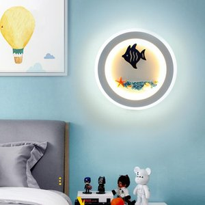 Wall Lamps Creative Led Lamp Bedroom Mediterranean Aisle Staircase Simple Modern Boy And Girl Children's Room Bedside