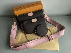FAVORITE MULTI POCHETTE ACCESSORIES handbag genuine leather flower shoulder crossbody bag ladies purses 3 pcs purse bags