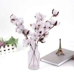 Natürlich getrocknete Baumwollstiele Bauernhaus Künstliche Blume Füller Floral Decor Gefälschte Blumen DIY Girlande Home Hochzeit Supplies NHD6283
