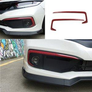 For Honda Civic Front Fog Lamp Light Strip Trim Red