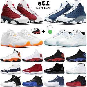 Обувь Баскетбольные Мужчины Женщины Jumpman 11s Цитрусовые Легенда Синий Низкий Юбилей 13с Красный Флинт Черный Гипер Royal 12s Университет золота