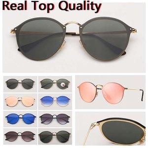 Fashion Womens Sunglasses Blaze Vintage Sun Glasses Cat Eye Mens Sunglass Des Lunettes De Soleil UV400 Protection Lenses with free Leather