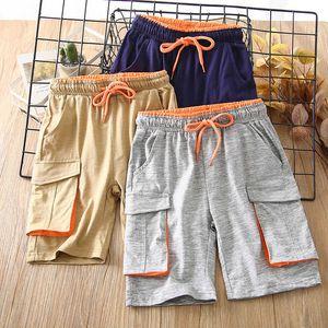 Boys' Sports Shorts, Work Leisure Summer Wear, Thin 5-cent Cotton Children's Beach Pants