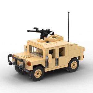 Vehicle M1025 HUMVEE Armament Carrier M1097A2 Car SWAT Minifigs Figures Guns Building Block Toys For Children Gift