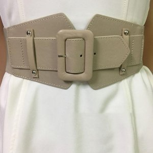 Belts Black Red Joint Short Pu Wide Belt Personality Women Fashion Tide All-match Spring Autumn