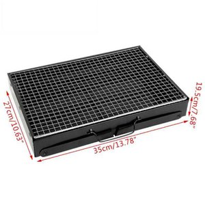 Portable Foldable BBQ Grills Patio Barbecue Charcoal Grill Stove Outdoor Camping 210724