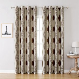 Curtain & Drapes 1 Piece Full Light Shading Blackout Modern Style Home Decor Geometric Pattern Window Curtains For Bedroom Living Room
