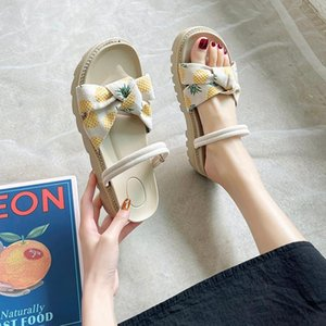 Shoes House Slippers Platform Med Slipers Women Shale Female Beach Luxury Slides 2021 Sabot Designer Soft Flat Rome PU Basic