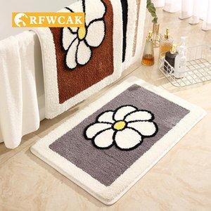 Carpets RFWCAK Home Bathroom Absorbent High-pile Carpet Living Room Bedroom Kitchen Bedside Non-slip Dust-free Mat Fitness