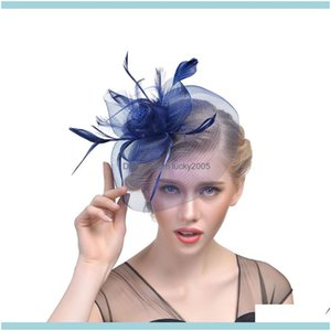 Aessories , & Eventsbridal Feather Fascinator Bridal Birdcage Veil Hat Hats Fascinators Femin Hair Flowers For Wedding Party Ygwqr