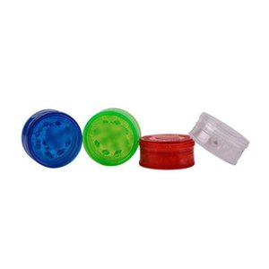 Herb Grinder With 3layer 60mm Plastic Tobacco Grinders for Smoke Accessories Smoking Pipes Acrylic Grinders ZZE5058
