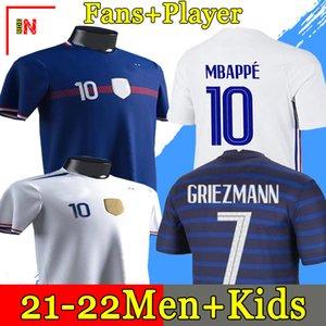 2020 MBAPPE GRIEZMANN Pogba Giroud Kante Frankreich Jerseys 2021 Home Away Fussball Jersey Fussball Hemden Erwachsene Männer + Kinder Kit