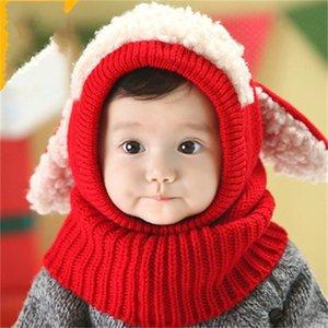 Mignon d'hiver Bib pour enfants Chiot Chiot Super Soft Soft Bébé Cadmuffs pour Baby Boys Filles Caps Caps Caps Caps Nouveau-né 270 K2