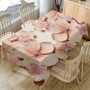 Disposable Table Covers Cloth 3D Flower Washable Rectangular Tea Cover Dining Home Decor Kitchen #RU5