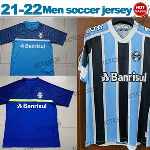 21 22 Gremio Futbol Forması Ev Mavi Beyaz Kamponato Brasileiro Serie Bir Erkek Futbol Gömlek Satışa