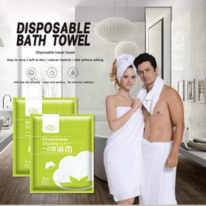 towels Jin Jie's 5disposable bath towel hotel beauty salon Outdoor Travel Gym home hospitality convenient water absorbing tourism products