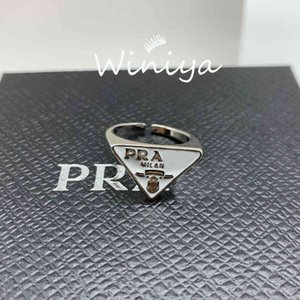 High-quality P family inverted triangle letter open ring high version geometric trend fashion personalized jewelry