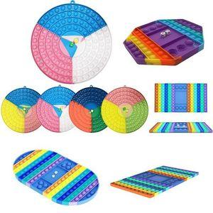 Fidget Toys Rainbow Biens de bienvenue Board Board Famille One Puzzle Jeu Fidgets Sensorial Autisme Nécessité Spécial Anxiété Stress Stress Strifge pour Office Fluorescen Gyqqq