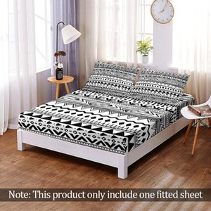Sheets & Sets Custom Fashion 3D Print Bohemia Magical Mandala Fitted Sheet Elastic Band Bed Bedroom Flats Home Decor Queen King Adult