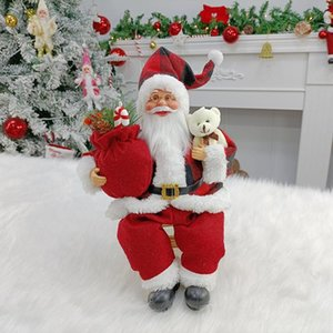 Decorative Objects & Figurines Christmas Santa Claus Doll Child Gift Toy Table Decoration For Home Plush Faceless Decorations Room Desktop S